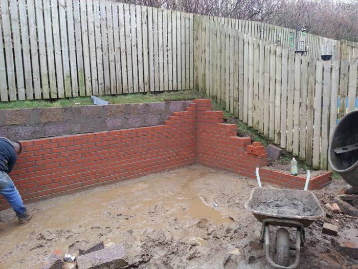 garden wall east kilbride / bricklayer in east kilbride